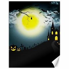 Halloween Landscape Canvas 12  X 16   by Valentinaart