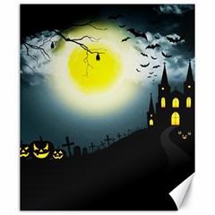 Halloween Landscape Canvas 20  X 24   by Valentinaart