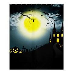 Halloween Landscape Shower Curtain 60  X 72  (medium)  by Valentinaart