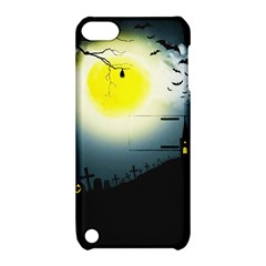Halloween Landscape Apple Ipod Touch 5 Hardshell Case With Stand by Valentinaart