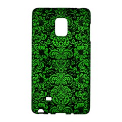 Damask2 Black Marble & Green Brushed Metal Galaxy Note Edge by trendistuff