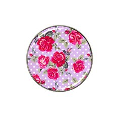 Shabby Chic,pink,roses,polka Dots Hat Clip Ball Marker (10 Pack) by 8fugoso
