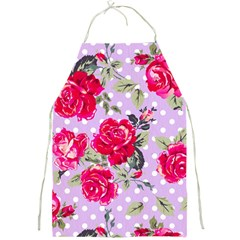 Shabby Chic,pink,roses,polka Dots Full Print Aprons by 8fugoso