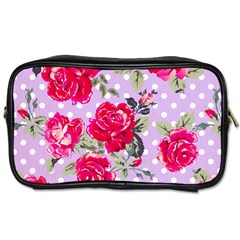 Shabby Chic,pink,roses,polka Dots Toiletries Bags by 8fugoso