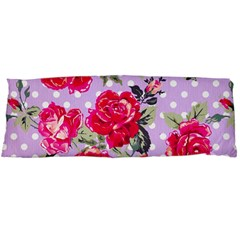 Shabby Chic,pink,roses,polka Dots Body Pillow Case (dakimakura) by Love888