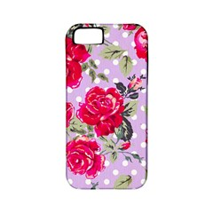 Shabby Chic,pink,roses,polka Dots Apple Iphone 5 Classic Hardshell Case (pc+silicone) by 8fugoso