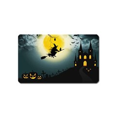 Halloween Landscape Magnet (name Card) by Valentinaart
