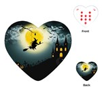 Halloween landscape Playing Cards (Heart)  Front