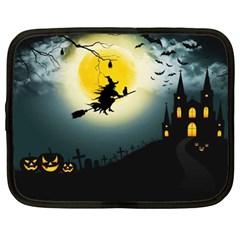 Halloween Landscape Netbook Case (xl)  by Valentinaart