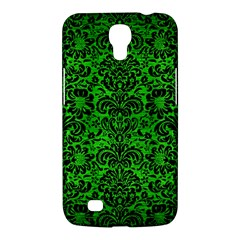 Damask2 Black Marble & Green Brushed Metal (r) Samsung Galaxy Mega 6 3  I9200 Hardshell Case by trendistuff