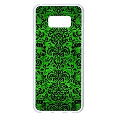 Damask2 Black Marble & Green Brushed Metal (r) Samsung Galaxy S8 Plus White Seamless Case by trendistuff