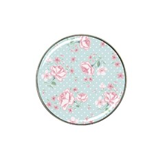 Shabby Chic,pink,roses,polka Dots Hat Clip Ball Marker (4 Pack) by Love888