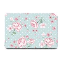 Shabby Chic,pink,roses,polka Dots Small Doormat  by 8fugoso
