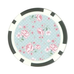 Shabby Chic,pink,roses,polka Dots Poker Chip Card Guard by 8fugoso