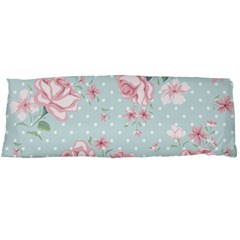 Shabby Chic,pink,roses,polka Dots Body Pillow Case Dakimakura (two Sides) by Love888