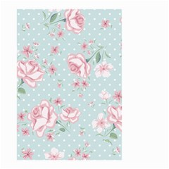 Shabby Chic,pink,roses,polka Dots Small Garden Flag (two Sides) by 8fugoso