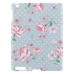 Shabby Chic,pink,roses,polka Dots Apple Ipad 3/4 Hardshell Case by 8fugoso