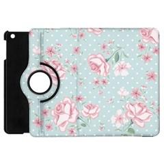 Shabby Chic,pink,roses,polka Dots Apple Ipad Mini Flip 360 Case by 8fugoso