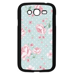 Shabby Chic,pink,roses,polka Dots Samsung Galaxy Grand Duos I9082 Case (black) by 8fugoso