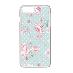 Shabby Chic,pink,roses,polka Dots Apple Iphone 7 Plus White Seamless Case by 8fugoso