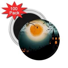 Halloween Landscape 2 25  Magnets (100 Pack)  by Valentinaart