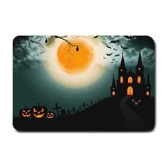 Halloween Landscape Small Doormat  by Valentinaart