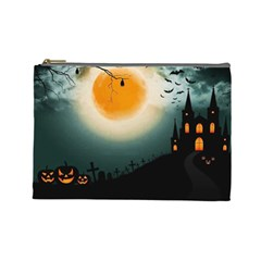 Halloween Landscape Cosmetic Bag (large)  by Valentinaart