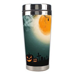 Halloween Landscape Stainless Steel Travel Tumblers by Valentinaart
