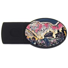 Modern Abstract Painting Usb Flash Drive Oval (4 Gb) by Love888