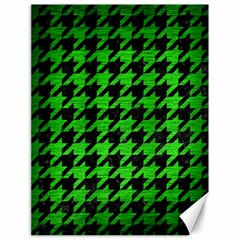 Houndstooth1 Black Marble & Green Brushed Metal Canvas 18  X 24   by trendistuff
