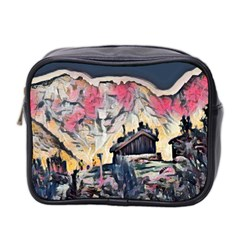 Modern Abstract Painting Mini Toiletries Bag 2 Side by 8fugoso