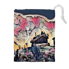 Modern Abstract Painting Drawstring Pouches (extra Large) by 8fugoso