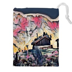 Modern Abstract Painting Drawstring Pouches (xxl) by Love888