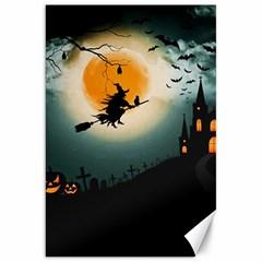 Halloween Landscape Canvas 20  X 30   by Valentinaart