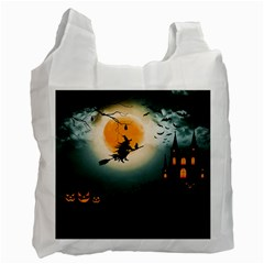 Halloween Landscape Recycle Bag (one Side) by Valentinaart