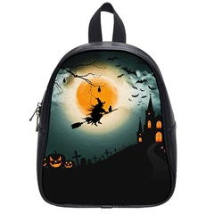 Halloween Landscape School Bag (small) by Valentinaart