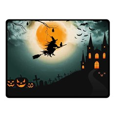 Halloween Landscape Fleece Blanket (small) by Valentinaart