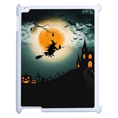 Halloween Landscape Apple Ipad 2 Case (white) by Valentinaart