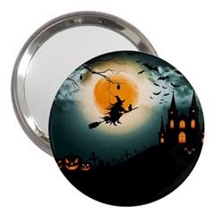 Halloween Landscape 3  Handbag Mirrors by Valentinaart