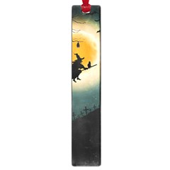Halloween Landscape Large Book Marks by Valentinaart