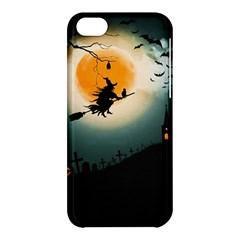 Halloween Landscape Apple Iphone 5c Hardshell Case by Valentinaart