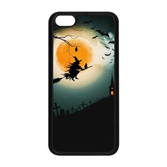 Halloween Landscape Apple Iphone 5c Seamless Case (black) by Valentinaart