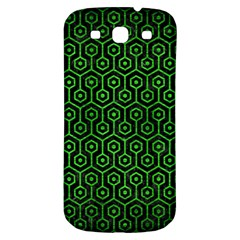 Hexagon1 Black Marble & Green Brushed Metal Samsung Galaxy S3 S Iii Classic Hardshell Back Case by trendistuff