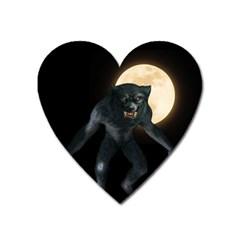 Werewolf Heart Magnet by Valentinaart