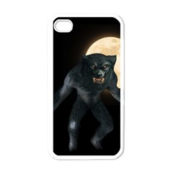 Werewolf Apple Iphone 4 Case (white) by Valentinaart