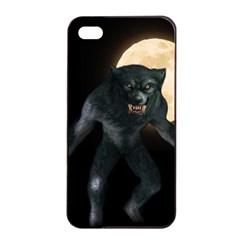Werewolf Apple Iphone 4/4s Seamless Case (black) by Valentinaart