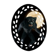 Werewolf Ornament (oval Filigree) by Valentinaart