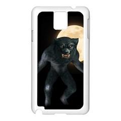 Werewolf Samsung Galaxy Note 3 N9005 Case (white) by Valentinaart