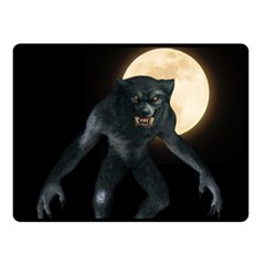 Werewolf Double Sided Fleece Blanket (small)  by Valentinaart