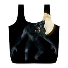 Werewolf Full Print Recycle Bags (l)  by Valentinaart
